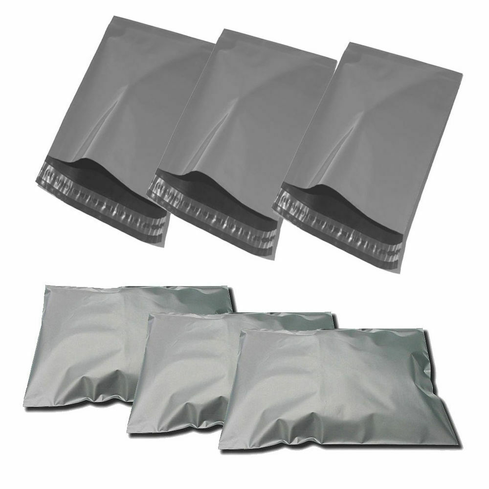 """Strong Grey Mailing Post Mail Postal Bags Poly Postage Self Seal 6/"""" x 9/"""" Bag"""